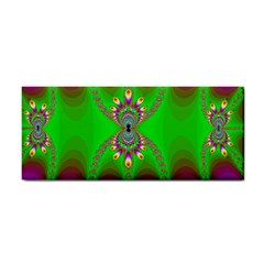 Green And Purple Fractal Cosmetic Storage Cases by Amaryn4rt
