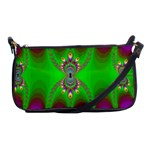 Green And Purple Fractal Shoulder Clutch Bags Front
