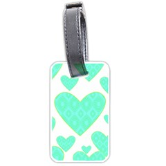 Green Heart Pattern Luggage Tags (one Side)
