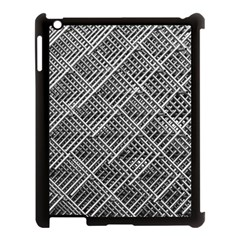 Grid Wire Mesh Stainless Rods Rods Raster Apple Ipad 3/4 Case (black) by Amaryn4rt