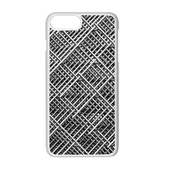 Grid Wire Mesh Stainless Rods Rods Raster Apple Iphone 7 Plus White Seamless Case by Amaryn4rt