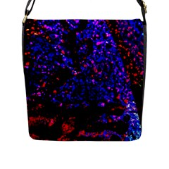 Grunge Abstract Flap Messenger Bag (l)  by Amaryn4rt