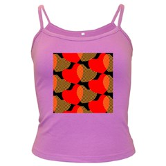 Heart Pattern Dark Spaghetti Tank