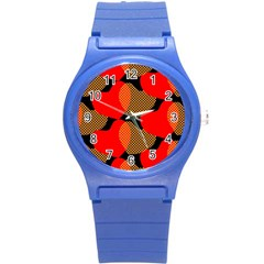 Heart Pattern Round Plastic Sport Watch (s) by Amaryn4rt