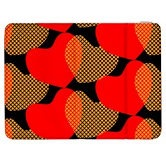 Heart Pattern Samsung Galaxy Tab 7  P1000 Flip Case by Amaryn4rt