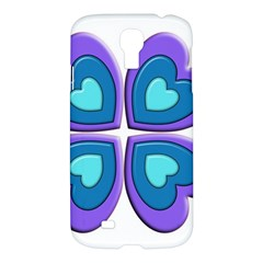 Light Blue Heart Images Samsung Galaxy S4 I9500/i9505 Hardshell Case by Amaryn4rt
