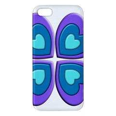 Light Blue Heart Images Iphone 5s/ Se Premium Hardshell Case by Amaryn4rt