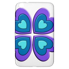 Light Blue Heart Images Samsung Galaxy Tab 3 (8 ) T3100 Hardshell Case