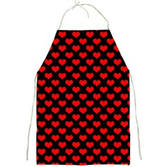 Love Pattern Hearts Background Full Print Aprons by Amaryn4rt
