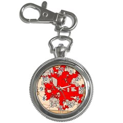Map Of Franklin County Ohio Highlighting Columbus Key Chain Watches