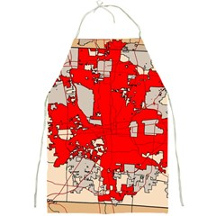 Map Of Franklin County Ohio Highlighting Columbus Full Print Aprons by Amaryn4rt