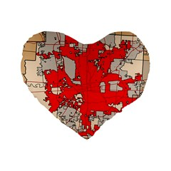 Map Of Franklin County Ohio Highlighting Columbus Standard 16  Premium Heart Shape Cushions by Amaryn4rt