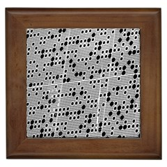 Metal Background Round Holes Framed Tiles by Amaryn4rt