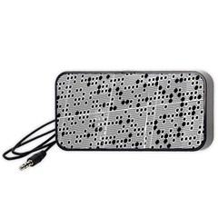 Metal Background Round Holes Portable Speaker (black)