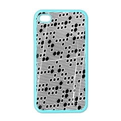 Metal Background Round Holes Apple Iphone 4 Case (color) by Amaryn4rt