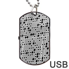 Metal Background Round Holes Dog Tag Usb Flash (one Side) by Amaryn4rt