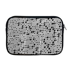 Metal Background Round Holes Apple Macbook Pro 17  Zipper Case
