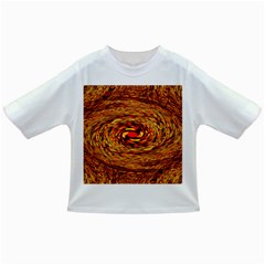 Orange Seamless Psychedelic Pattern Infant/toddler T Shirts