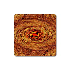 Orange Seamless Psychedelic Pattern Square Magnet