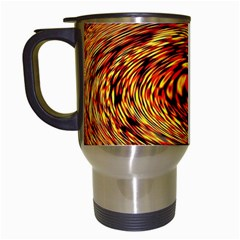 Orange Seamless Psychedelic Pattern Travel Mugs (white)