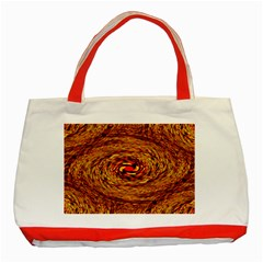 Orange Seamless Psychedelic Pattern Classic Tote Bag (red)