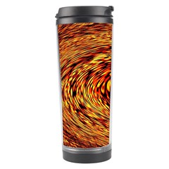 Orange Seamless Psychedelic Pattern Travel Tumbler by Amaryn4rt