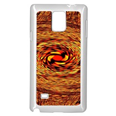 Orange Seamless Psychedelic Pattern Samsung Galaxy Note 4 Case (white) by Amaryn4rt