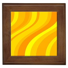 Orange Yellow Background Framed Tiles