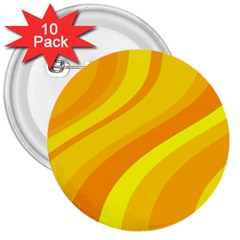 Orange Yellow Background 3  Buttons (10 Pack)