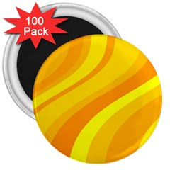 Orange Yellow Background 3  Magnets (100 Pack)
