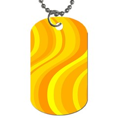 Orange Yellow Background Dog Tag (two Sides) by Amaryn4rt