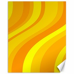 Orange Yellow Background Canvas 11  X 14   by Amaryn4rt