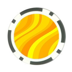 Orange Yellow Background Poker Chip Card Guard