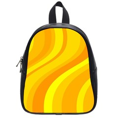 Orange Yellow Background School Bags (small)