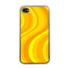 Orange Yellow Background Apple Iphone 4 Case (clear) by Amaryn4rt