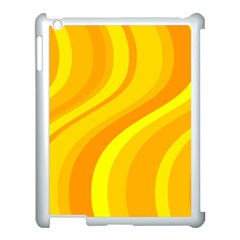 Orange Yellow Background Apple Ipad 3/4 Case (white) by Amaryn4rt