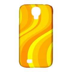 Orange Yellow Background Samsung Galaxy S4 Classic Hardshell Case (pc+silicone)