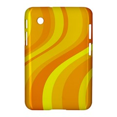 Orange Yellow Background Samsung Galaxy Tab 2 (7 ) P3100 Hardshell Case  by Amaryn4rt