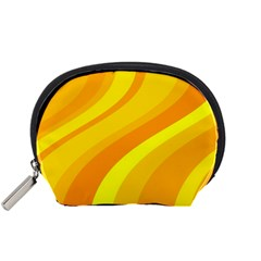 Orange Yellow Background Accessory Pouches (small)  by Amaryn4rt