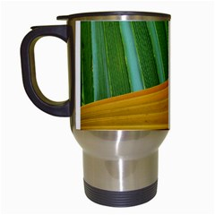 Pattern Colorful Palm Leaves Travel Mugs (white) by Amaryn4rt