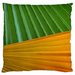 Pattern Colorful Palm Leaves Large Cushion Case (two Sides) by Amaryn4rt