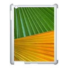 Pattern Colorful Palm Leaves Apple Ipad 3/4 Case (white)