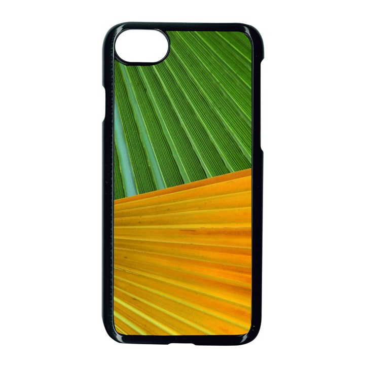 Pattern Colorful Palm Leaves Apple iPhone 7 Seamless Case (Black)