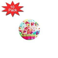Pattern Decorated Schoolbus Tie Dye 1  Mini Magnet (10 Pack)