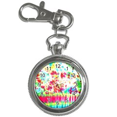 Pattern Decorated Schoolbus Tie Dye Key Chain Watches