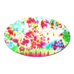 Pattern Decorated Schoolbus Tie Dye Oval Magnet