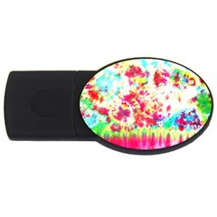 Pattern Decorated Schoolbus Tie Dye Usb Flash Drive Oval (4 Gb)