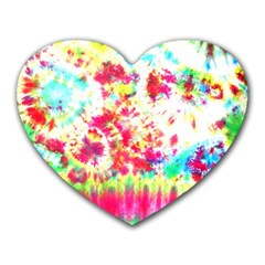 Pattern Decorated Schoolbus Tie Dye Heart Mousepads