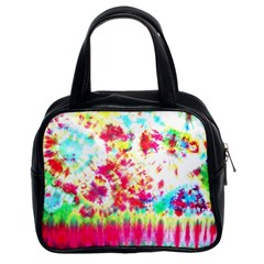 Pattern Decorated Schoolbus Tie Dye Classic Handbags (2 Sides) by Amaryn4rt