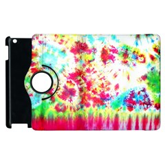 Pattern Decorated Schoolbus Tie Dye Apple Ipad 3/4 Flip 360 Case by Amaryn4rt